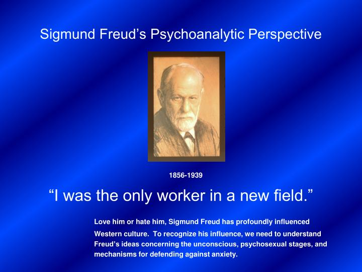 freud's psychoanalytic perspective Psychoanalysis is considered as a theory, a treatment, and a way of thinking about the human motivation a psychoanalytic perspective includes conscious, and.