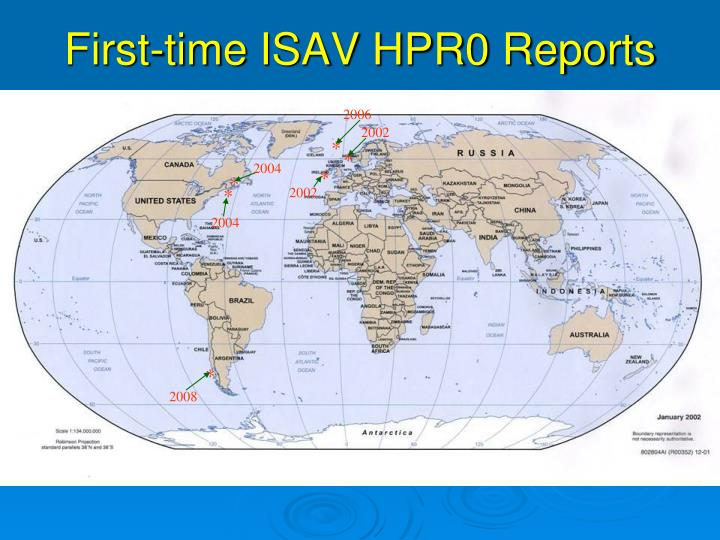 First-time ISAV HPR0 Reports