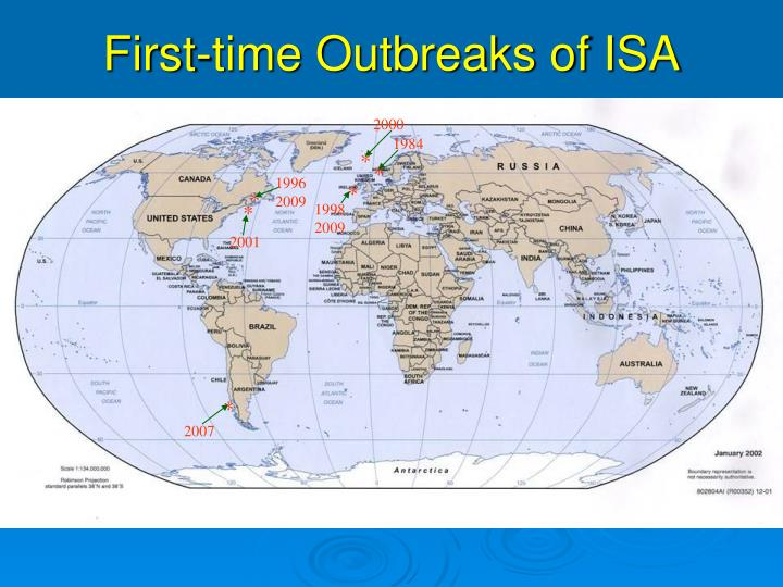 First-time Outbreaks of ISA