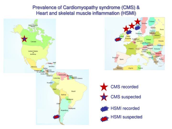 Prevalence of Cardiomyopathy syndrome (CMS) &