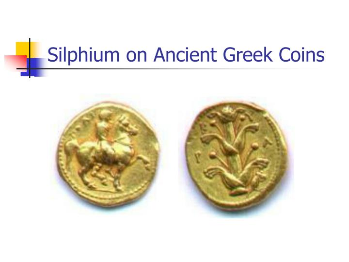 Silphium on Ancient Greek Coins