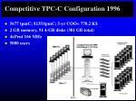 competitive tpc c configuration 1996