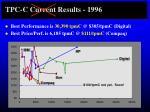 tpc c current results 1996