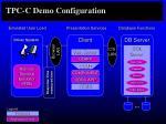 tpc c demo configuration