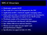 tpc c overview