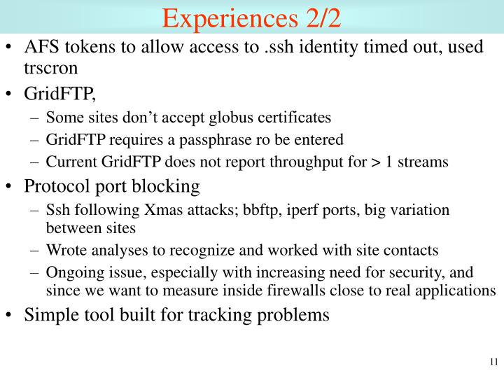 Experiences 2/2
