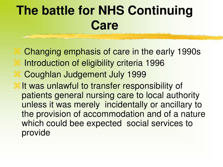 The battle for NHS Continuing Care