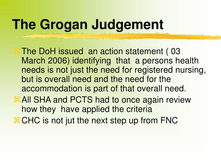The Grogan Judgement