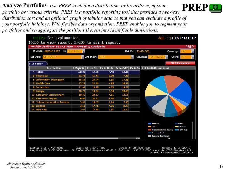 Analyze Portfolios