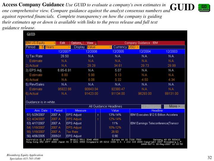 Access Company Guidance