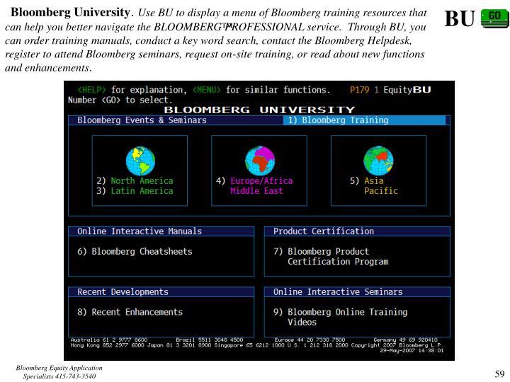 Bloomberg University