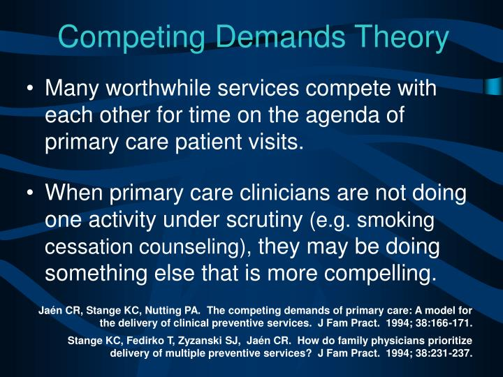 Competing Demands Theory