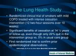 the lung health study