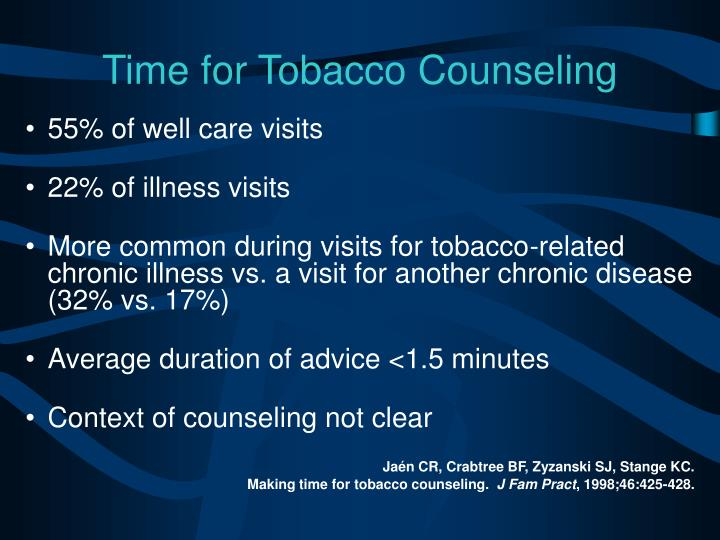 Time for Tobacco Counseling