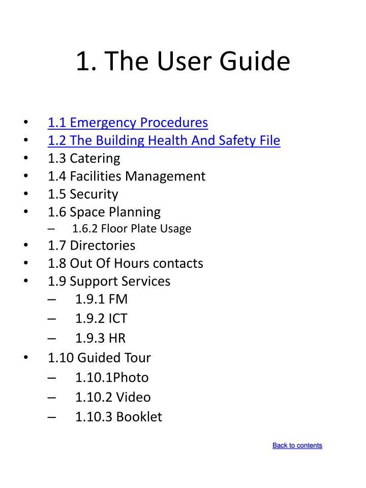 1. The User Guide