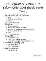 12 regulatory reform fire safety order 2005 should cover cont2