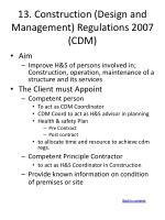 13 construction design and management regulations 2007 cdm