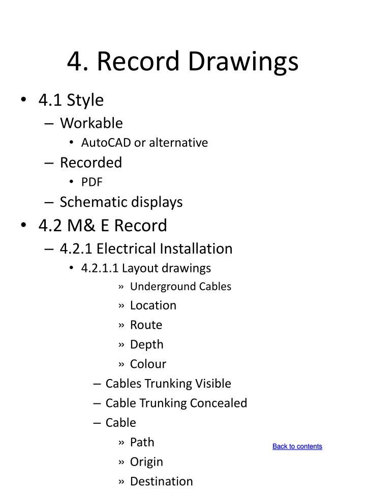 4. Record Drawings