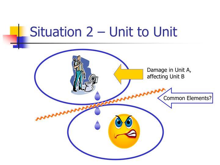 Situation 2 – Unit to Unit