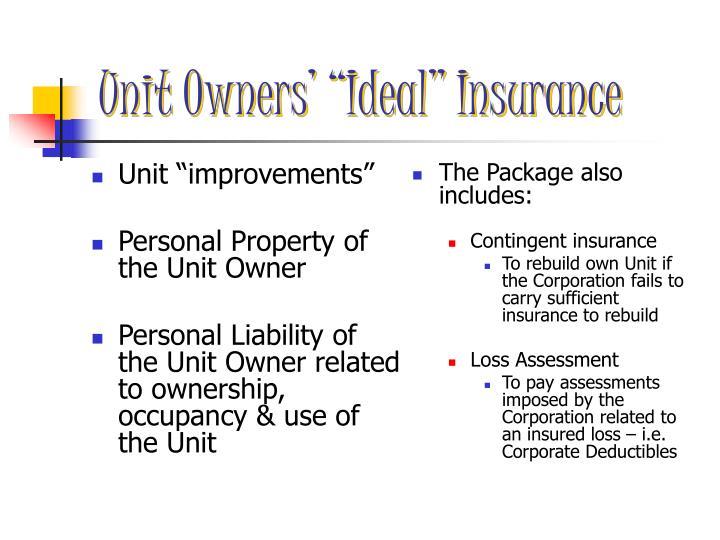 "Unit ""improvements"""