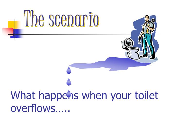 What happens when your toilet overflows…..