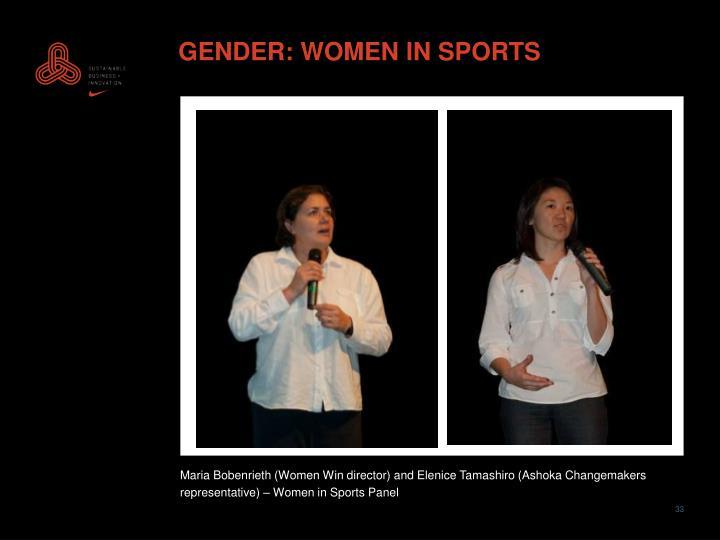 GENDER: WOMEN IN SPORTS