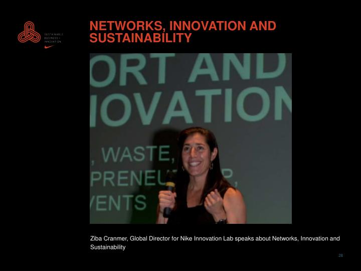 NETWORKS, INNOVATION AND SUSTAINABILITY