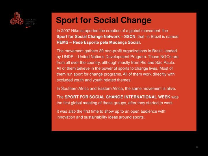 Sport for Social Change