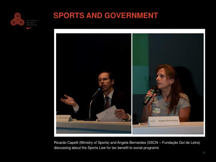 SPORTS AND GOVERNMENT