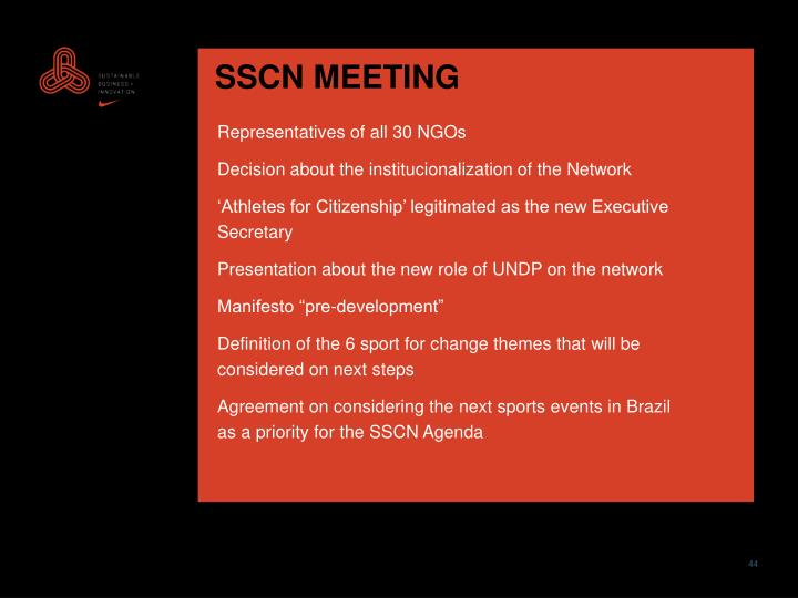 SSCN MEETING