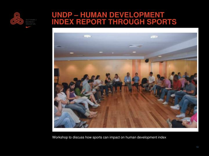UNDP – HUMAN DEVELOPMENT INDEX REPORT THROUGH SPORTS