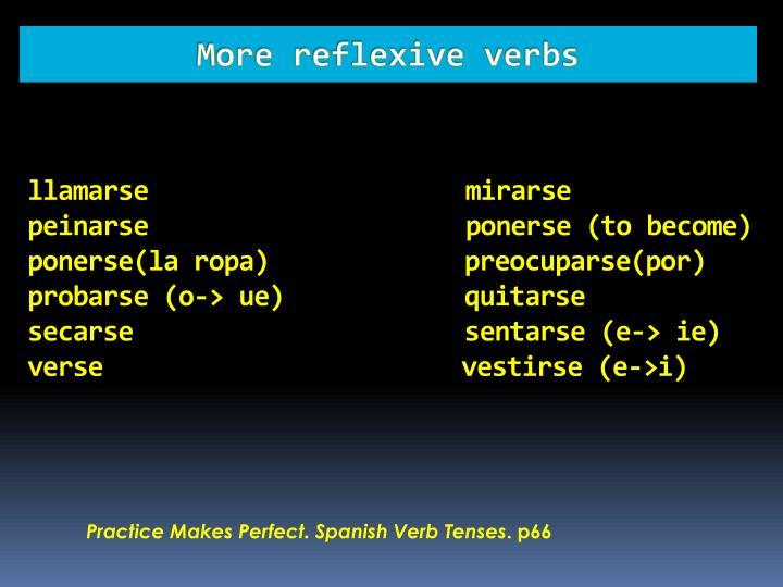 More reflexive verbs