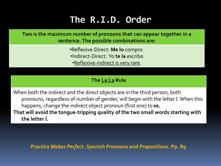 The R.I.D. Order