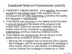 casebook note on foreclosures cont d