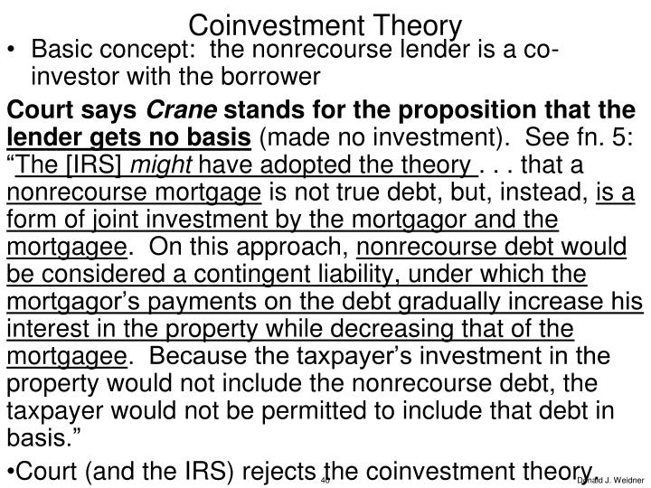 Coinvestment Theory