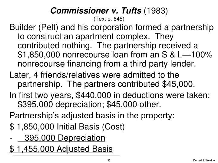 Commissioner v. Tufts