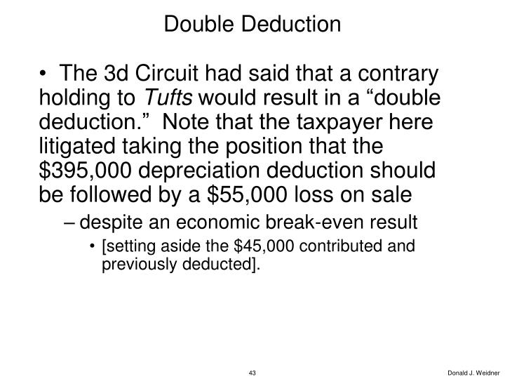 Double Deduction