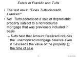 estate of franklin and tufts