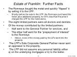 estate of franklin further facts