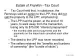 estate of franklin tax court