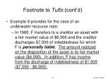 footnote to tufts cont d