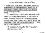 imprudent abandonment test