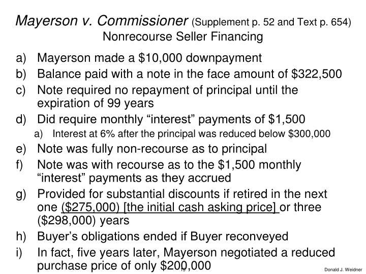 Mayerson v. Commissioner