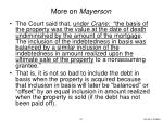 more on mayerson