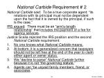 national carbide requirement 2