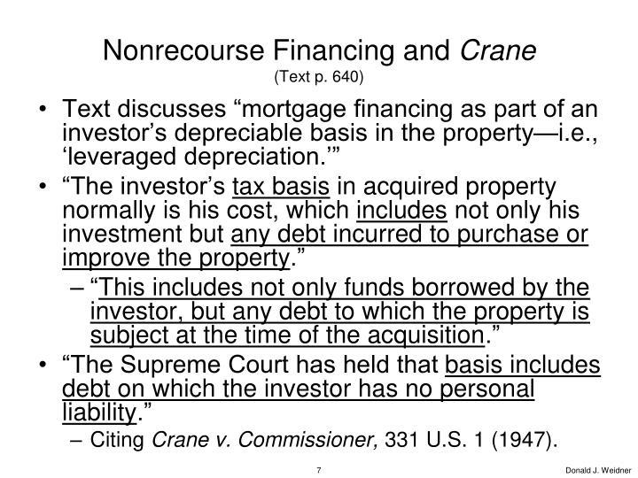 Nonrecourse Financing and
