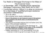 tax relief on mortgage discharge in the wake of the financial crisis