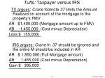 tufts taxpayer versus irs
