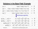 solutions in the base field example