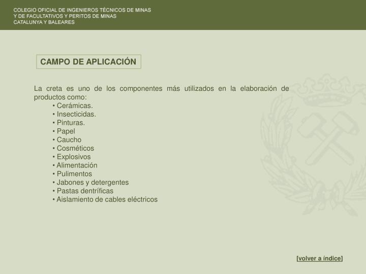 CAMPO DE APLICACIÓN